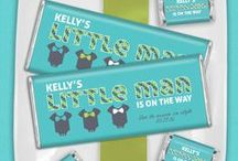 Baby Shower for Boys / Mustaches, bow ties and blue combine to create a boy baby shower fit for a king. / by Personalized HERSHEY'S® Chocolate Bars & Wrappers by WH Candy