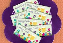 Eggstraordinary Easter Ideas / Eggs, chocolate and bright flowers make this holiday spring to life!   / by Personalized HERSHEY'S® Chocolate Bars & Wrappers by WH Candy