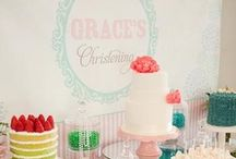 Heavenly Christening Parties / This rich celebration of Christian faith is a time to rejoice with family and friends.