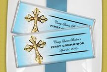 First Communion for Boys / Celebrate this symbolic day for your boy in a big way. First communions are a special time with lifelong memories.  / by Personalized HERSHEY'S® Chocolate Bars & Wrappers by WH Candy
