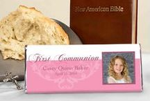 First Communion for Girls / A favorite part of First Communions for girls are the pretty white dresses they get to wear. Celebrate this spiritual occasion with family and friends.  / by Personalized HERSHEY'S® Chocolate Bars & Wrappers by WH Candy