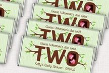 Bird Theme Baby Shower / Celebrate the mother-to-be with a sweet bird baby shower.  / by Personalized HERSHEY'S® Chocolate Bars & Wrappers by WH Candy