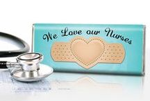Nurse Appreciation / Show a nurse you care! Great ideas for employers, family, friends and patients of sweet nurses. / by Personalized HERSHEY'S® Chocolate Bars & Wrappers by WH Candy