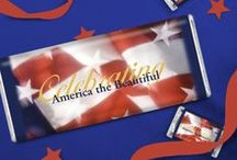Patriotic Fun / Stars, Stripes, Red, White & Blue. / by Personalized HERSHEY'S® Chocolate Bars & Wrappers by WH Candy