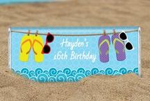 Beachy Luau / Bring the surf, sun and sand to your party with a beach, pool or luau themed day. / by Personalized HERSHEY'S® Chocolate Bars & Wrappers by WH Candy