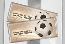 Soccer Time / Kick, Dribble, GOALLLLLLLLLL / by Personalized HERSHEY'S® Chocolate Bars & Wrappers by WH Candy