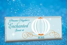 Cinderella Themed Birthday / Make her birthday dreams come true with a party theme fit for a princess! / by Personalized HERSHEY'S® Chocolate Bars & Wrappers by WH Candy