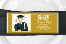 Grad Party for Boys / Celebrate your son's graduation milestone with a party he will always remember! / by Personalized HERSHEY'S® Chocolate Bars & Wrappers by WH Candy