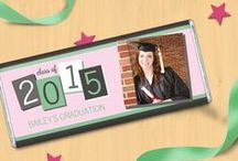 Grad Party for Girls / Celebrate your daughter's High School or College graduation with a unique grad party! / by Personalized HERSHEY'S® Chocolate Bars & Wrappers by WH Candy