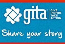 """GITA Giving / GITA means """"Share Your Story"""" in Sanskrit and is the foundation for Bhakti's platform for positive social change.  G.I.T.A. stands for """"Give"""", """"Inspire"""", """"Take Action"""" — the embodiment of what we intend to do with the Gita Giving project. / by Bhakti"""