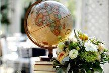 Vintage Travel Wedding    Theme Inspiration / A selection of Vintage Travel themed wedding images