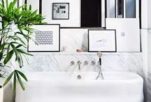 BATHROOMS / Decor inspiration and style ideas for bathrooms, powder rooms, guest bathrooms, master bathrooms.  Traditional, contemporary, eclectic, transitional interior design. bathroom decor bathroom ideas bathroom remodel bathroom decor ideas bathroom organization