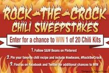 Rock the Crock Chili Sweepstakes / This promotion has now ended. Thanks to all who participated!   / by S&W Beans