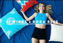 41 WINKS x RORA BLUE COLLECTION ☆ / We're SO excited to once again be collaborating with artist, entrepreneur, blogger and positive influencer, Rora Blue!! The creative mind behind The Unsent Project, Handle With Care and Cutting Ties shares some of her fave 41 Winks bedding ;)