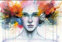 A Splash Of Color / Mostly everything is watercolor here.  / by Klaressa Hobbs