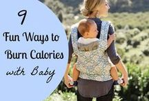 Active Babywearing / Beautiful wonderful ways to keep moving with your baby! Exercise and fitness
