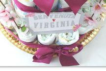 Torte di pannolini, asciugamani, canovacci... diaper cake, towel cake