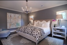 Home- Bedroom / Bedroom reno inspiration. I love whites & greys with a splash of colour.