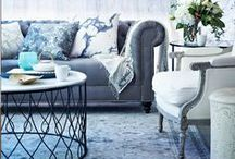 Home- living / I'm loving whites & greys & navy blue <3 I also love chevron print, brightly painted furniture<3
