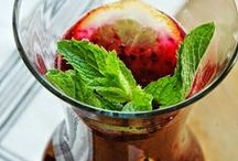 BEVERAGES: WATER/LEMONADE/PUNCH+FLOATS /  Flavored water, non alcholic drinks,punch & float recipes / by Janice Maiolatesi