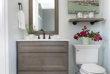 Bath Vanities / The bath vanity is one place to add some style and warmth to the bathroom.