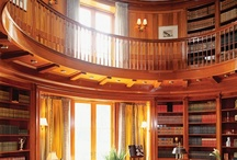Curl up in the book nook / Libraries, great & small.  Love them, its my favorite room in my house.  Although mine isn't grand, it's cozy.   / by Amy Johnson