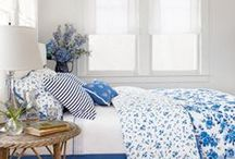 Blue and White / It's always a fresh and approachable color combo.