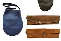 Pouches, bags, / purses, leather pouches, clutches, / by Giova Brusa