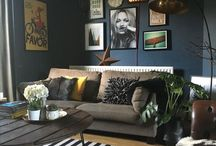 My house - in detail / Interiors, interior styling, dark interiors, black walls, eclectic interiors, home decor, interior blog, Abigail ahern, Farrow and Ball, Stiffkey Blue, off black, house rental tips, tips for tenants, home decor for rentals