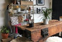 Vintage workbench - In Detail / Vintage workbench, kitchen, antique