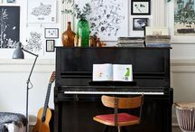 Piano style- In Detail / Piano styling, living, interiors. Pianos at home