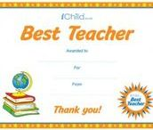Teacher Appreciation Ideas / The resources are perfect for your child to thank their teacher for all their help over the school year! Visit iChild.co.uk for thousands more themed activities for children aged 0 - 11 years.