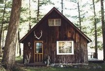 home: cabin life / you + me and a cabin in the woods = simple life