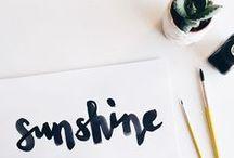 love: lettering / lettering, handwriting, handlettered fonts, inspiration & tutorials