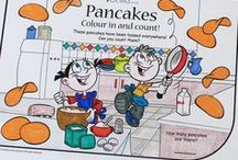 Pancake Day (Shrove Tuesday) / Activities from colouring in, counting, recipes  - and more! On this day, it's tradition to eat loads in preparation for the Christian period of Lent, which starts the next day, on Ash Wednesday.