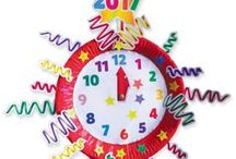 New Year / Fun printable activities for parents to create with their children and celebrate the New Year.