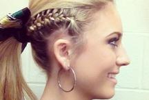 Hair Ideas for Cheerleaders / cheerleader hair inspiration