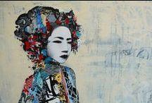 street Art (no Banksy) / street art, graffiti, stencils, tags