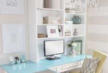 {Home} Craft Room & Office Ideas / Decor and organization ideas for my craft room or home office...someday!