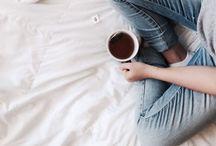 ~ tea time ~ / Those precious moments. Warm tea or coffe, and a warm blanket.
