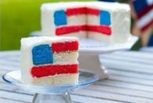 Red White and Blue for July 4th, Memorial Day or Patriotic times / Patriotic colorful food and a few crafts for July 4th, Memorial Day and other times of national pride. Red, white and blue food for picnics, potlucks, parties and celebrations!