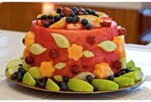 """Cakes"" Made From Fruit / Healthy ""cakes"" constructed with fruit is a trend I like to see! That way I can have seconds and not feel guilty! #ShockinglyDelicious!"