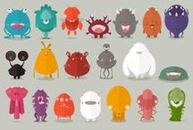 character design / character design, illustration, concept, drawing, illustration, graphic, cut, monsters, scary, funny, creative