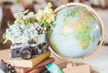 {Parties} Travel Themed Bridal Shower / DIY ideas for decor at my sister's vintage travel themed bridal shower