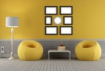 Yellow Interiors / Bring a little sunshine into your home with these pops of yellow colour.