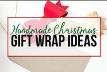 {Handmade Christmas} Gift Wrap Ideas / A collection of DIY gift wrap ideas curated for customers of the 7 Steps to a Handmade Christmas eBook from unOriginalMom.com.  Get motivated, organized, and inspired to handmade your Christmas gifts this year! http://www.unoriginalmom.com/handmadechristmas