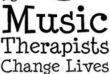 Music Therapy in the Media / Infographics, news media, print, video, posts, about the profession of Music Therapy.