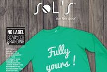 NO LABEL READY FOR BRANDING / SOL'S offers a selection of products with size labels on the neckline without SOL'S logo for easier customization