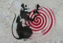 creatives: Banksy / banksy and banksy alone, street art, sculpture, stencil, art, guerilla, graffiti