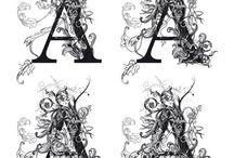 Typographie / Typographie écriture enluminures art des lettres